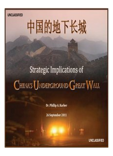 Strategic Implications of China's Underground Great Wall