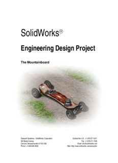 Engineering Design Project The Mountainboard - SolidWorks