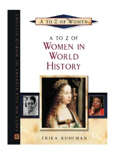A to Z of Women in World History