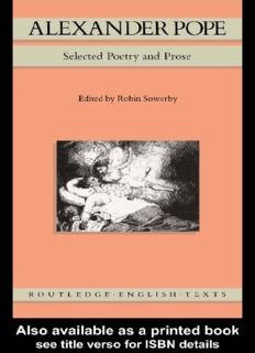 Alexander Pope Selected Poetry and Prose.pdf