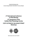 2nd International Conference on Plant Biology 21th Symposium of the Serbian Plant Physiology ...