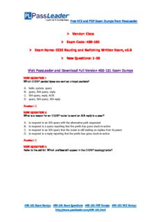 New 400-101 Exam Dumps with PDF and VCE Download