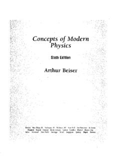 Concepts of Modern Physics by Arthur Beiser