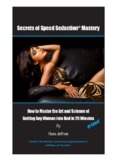 Secrets of Speed Seduction Mastery Cover