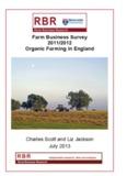 Farm Business Survey 2011/2012 Organic Farming in England