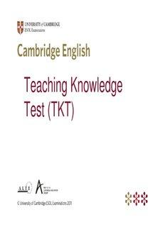 Teaching Knowledge Test (TKT) - Cambridge English Teaching
