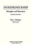 Entrepreneurship: Strategies and Resources