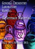 General CHeMISTrY Fall 2014/SPrInG 2015 General CHeMISTrY Fall 2014/SPrInG 2015