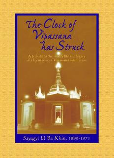 The Clock of Vipassana Has Struck - Saraniya Dhamma Meditation