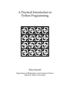 A Practical Introduction to Python Programming
