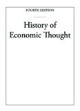 History of Economic Thought - Modern Economics