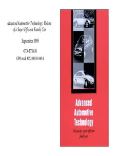 Advanced Automotive Technology: Visions of a Super-Efficient