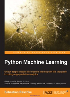 Using Python for machine learning