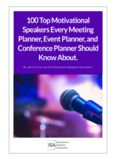 100 Top Motivational Speakers Every Meeting Planner, Event Planner, and Conference Planner ...