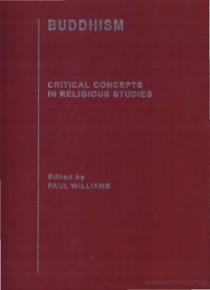 BUDDHISM Critical Concepts in Religious Studies