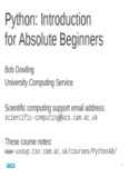 Python: Introduction for Absolute Beginners
