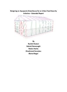 Designing an Aquaponic Greenhouse for an Urban Food
