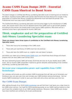 CAMS Mock Exam Trending Source for CAMS Exam Success