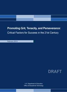 Promoting Grit, Tenacity, and Perseverance