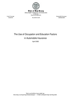 The Use of Occupation and Education Factors in Automobile Insurance