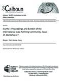 Scythe : Proceedings and Bulletin of the International Data Farming Community, Issue 15