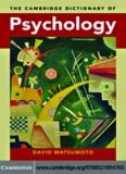 Cambridge Dictionary of Psychology