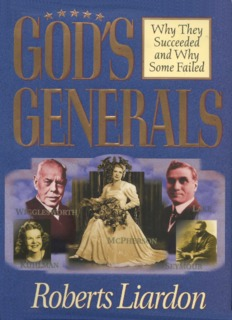 God's Generals by Roberts Liardon