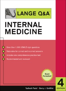 Lange Q & A. Internal Medicine