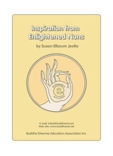 Inspiration from Enlightened Nuns - Susan Elbaum Jootla - BuddhaNet