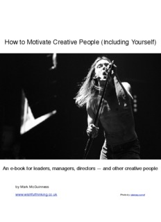 How to Motivate Creative People (Including Yourself)