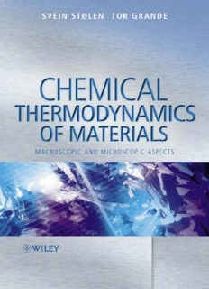 Chemical Thermodynamics - Fulvio Frisone