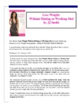 Lose Weight: Without Dieting Or Working Out! - JJ Smith