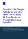 Evaluation of the Strength Aptitude Test and Other Fitness Tests to Qualify Air Force Recruits for