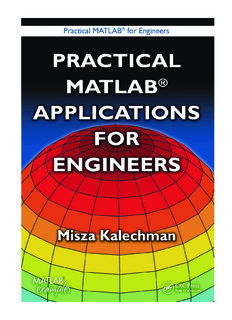 PRACTICAL MATLAB® FOR ENGINEERS PRACTICAL MATLAB