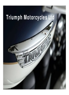 Triumph Motorcycles Ltd - FEMA