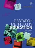 Research Methods in Education- Cohen - Teacher Education