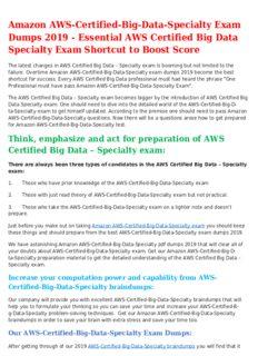 AWS-Certified-Big-Data-Specialty Mock Exam Trending Source for AWS Certified Big Data Specialty Exam Success