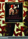 Cambridge Companion to F. Scott Fitzgerald