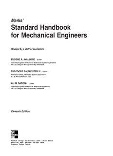 Standard Handbook for Mechanical Engineers - DoomzDay Preppers