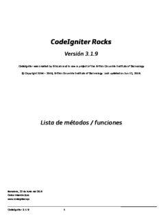 Codeigniter Web Application Blueprints Pdf