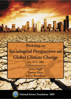 Sociological Perspectives on Global Climate Change