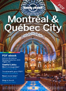 [Lonely Planet] Montreal & Quebec City 4e 2015