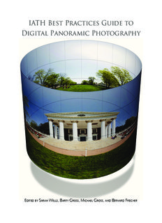 IATH Best Practices Guide to Digital Panoramic Photography