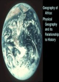 Geography of Africa: Physical Geography and its