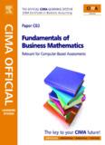 C3 – Fundamentals of Business Mathematics