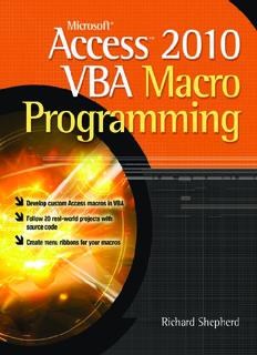 Microsoft Access VBA Macro Programming ( ebfinder.com ).pdf