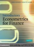 Introductory Econometrics for Finance