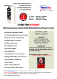 THE ONE THING WORKSHOP The Surprisingly Simple Truth Behind Extraordinary Results