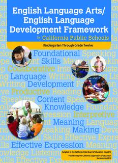 English Language Arts/ English Language Development Framework