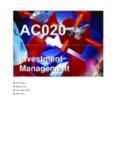 Investment Management Investment Management